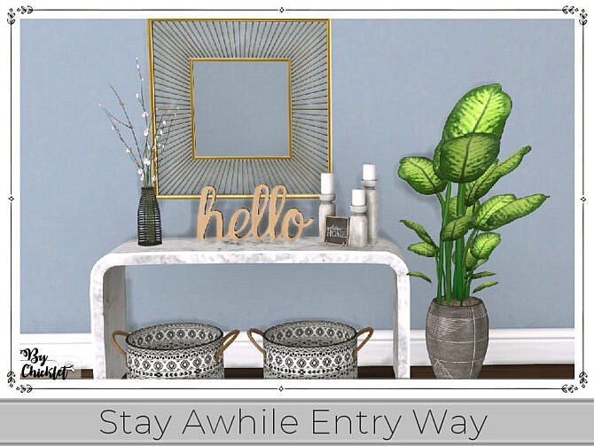 Sims 4 Stay Awhile Entry Way (Part 1) by Chicklet at TSR