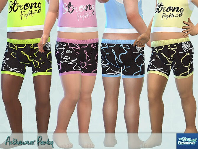 Sims 4 Activewear Panty by Pelineldis at TSR