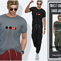 Men's T-shirt For Cargo Joggers By Sims House
