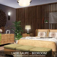 Lady Taupe Bedroom By Dasie2