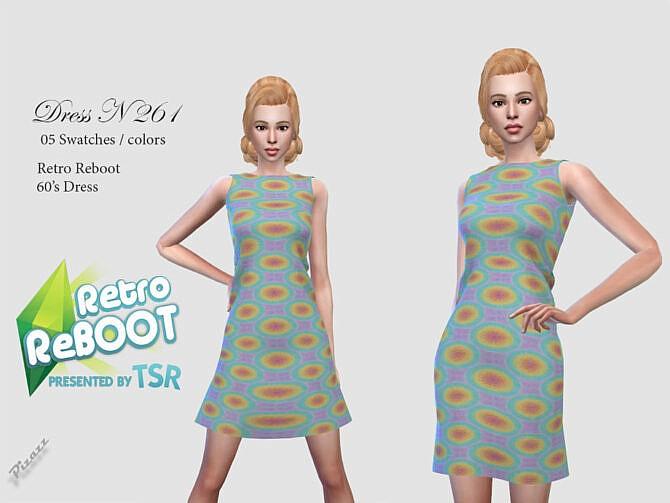 Sims 4 Retro DRESS 261 by pizazz at TSR