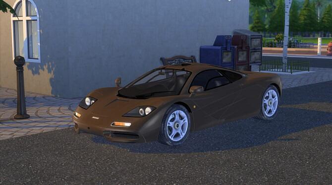 Sims 4 1993 McLaren F1 XP5 at Modern Crafter CC