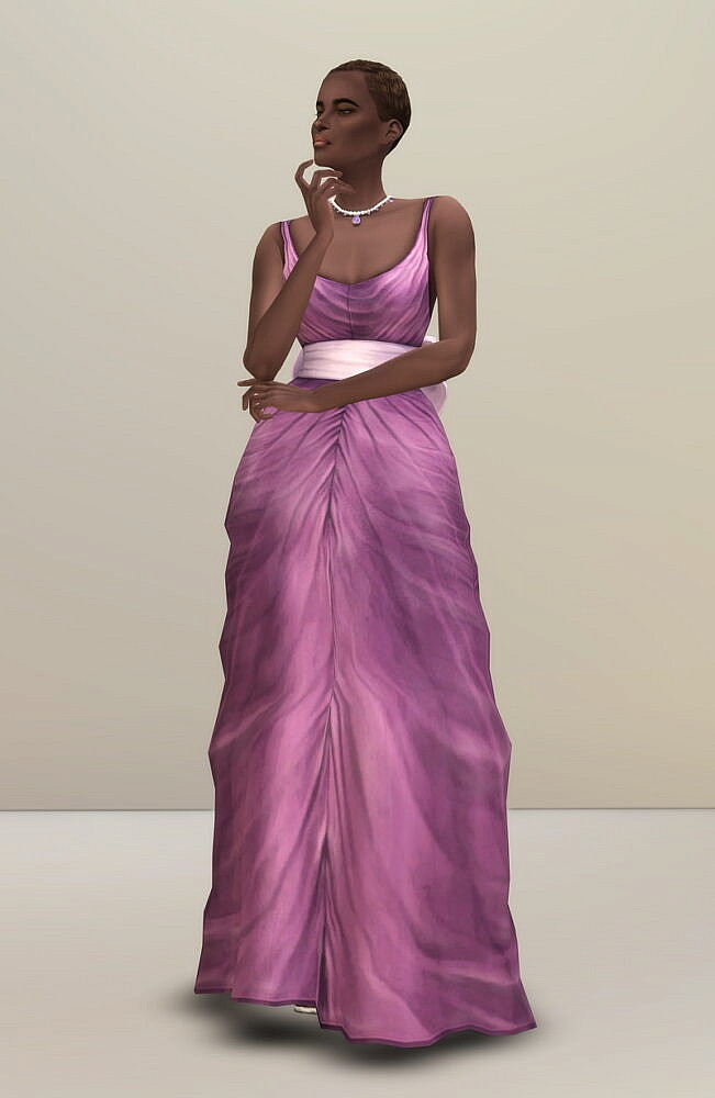 Sims 4 Shape with Bow Gown at Rusty Nail