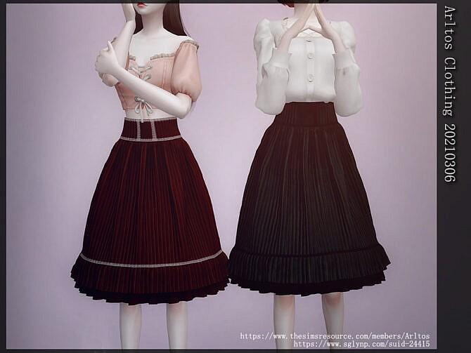 Sims 4 Skirt 20210306 by Arltos at TSR