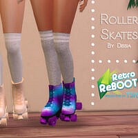 Retro Rollerskates Set By Dissia