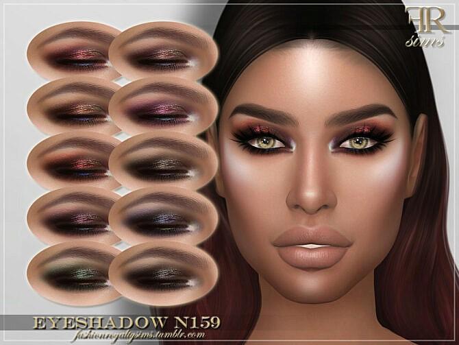 Sims 4 FRS Eyeshadow N159 by FashionRoyaltySims at TSR
