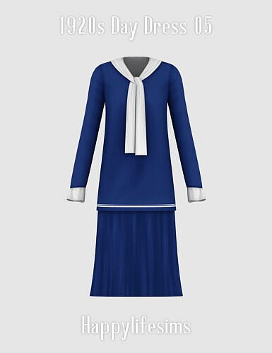 1920s Day Dress 05