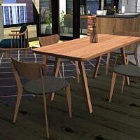 Stelvio Dining Table & Scandi Chair