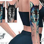 Imf Tattoo Wolf By Izziemcfire