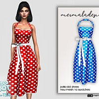Retro Polka Dot Dress By Mermaladesimtr