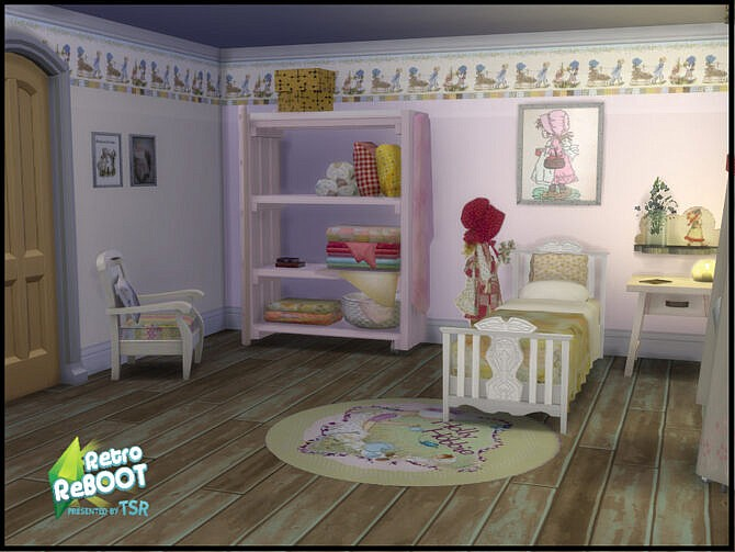 Sims 4 Retro Vintage Holly Hobby Walls by seimar8 at TSR