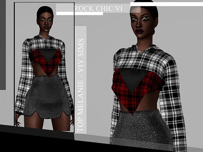 Sims 4 Rock Chic VI Top MELANIE by Viy Sims at TSR