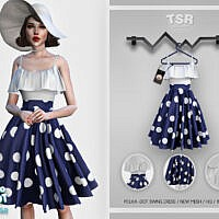 Retro Polka Dot Swing Dress Bd445 By Busra-tr