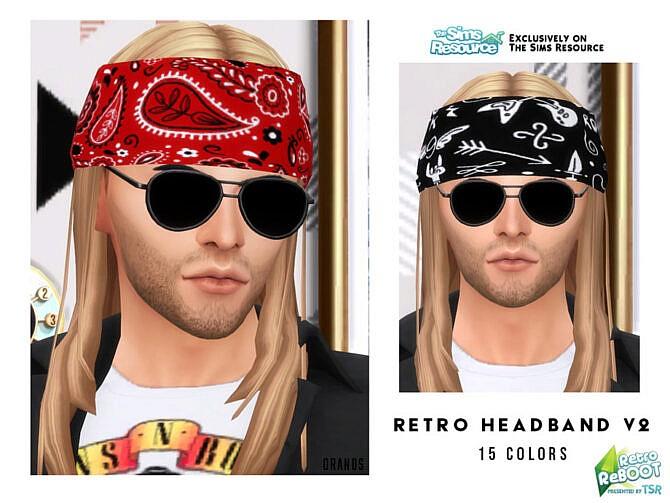 Sims 4 Retro Headband V2 by OranosTR at TSR