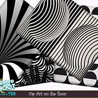 Retro Op Art On The Floor By Evi
