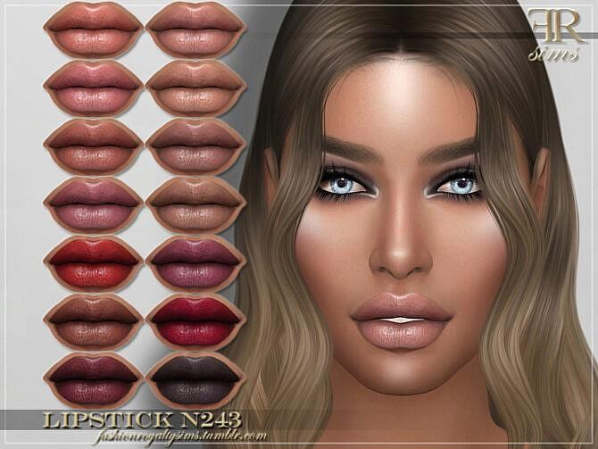 Sims 4 FRS Lipstick N243 by FashionRoyaltySims at TSR