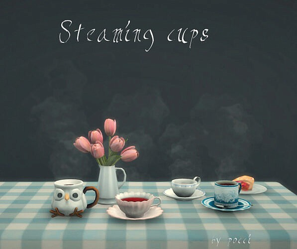Steaming Cups By Pocci
