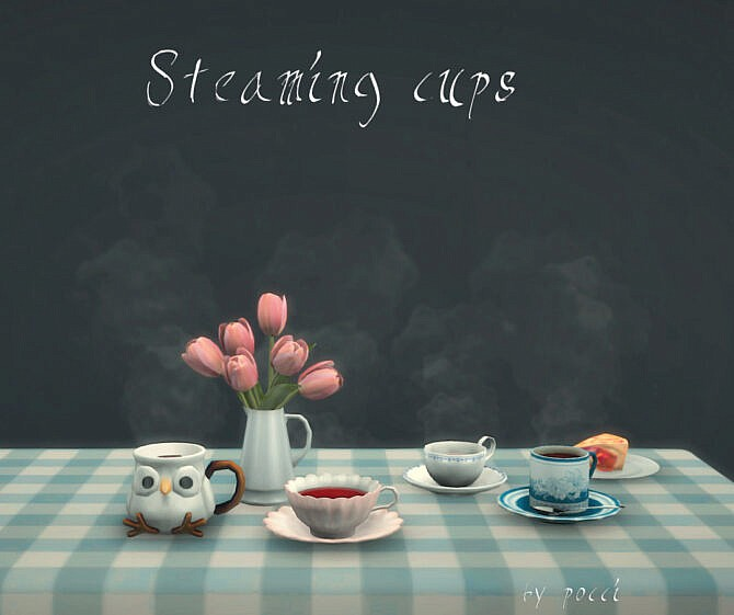 Sims 4 Steaming cups by Pocci at Garden Breeze Sims 4