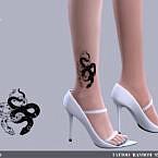 Random Snakes Tattoo By Angissi