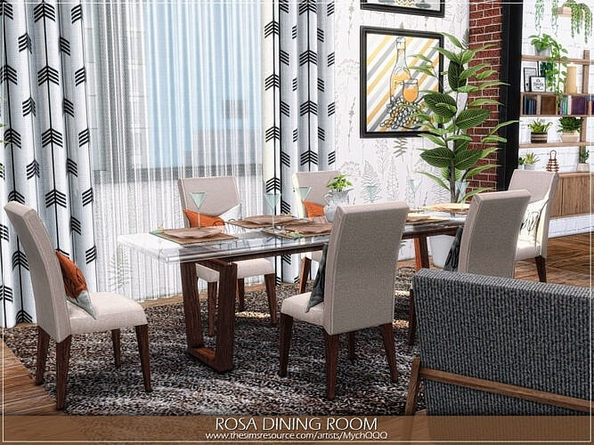 Rosa Dining Room By Mychqqq