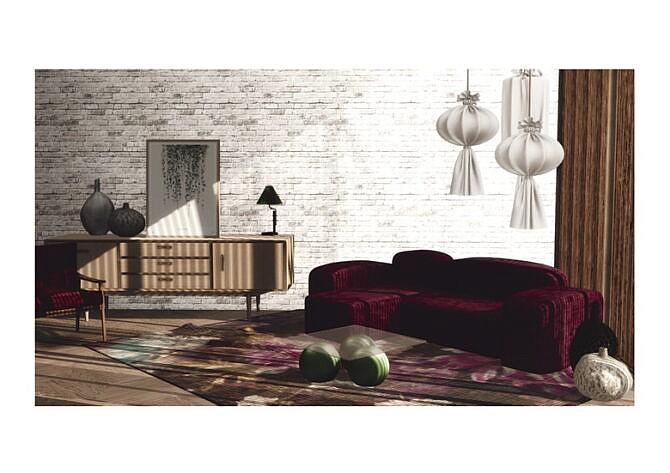Sims 4 Lovina Living Room Set at Sundays Sims