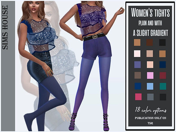 Tights, Plain And With A Slight Gradient By Sims House