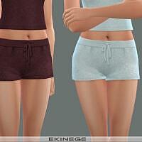 Knit Drawstring Shorts Set 24 4 By Ekinege