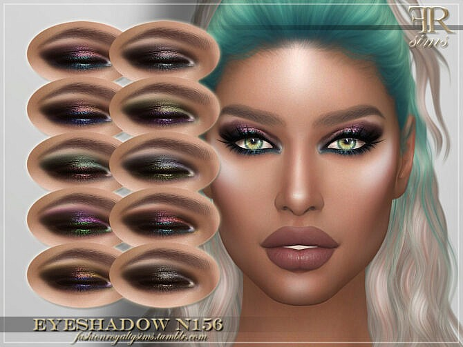 Sims 4 FRS Eyeshadow N156 by FashionRoyaltySims at TSR