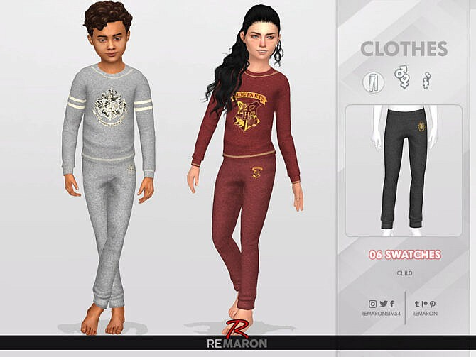 Sims 4 Harry Potter Pants 01 Kids by ReMaron at TSR