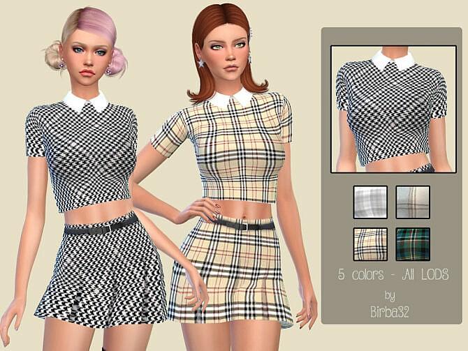 Sims 4 Alyssa Shirt by Birba32 at TSR