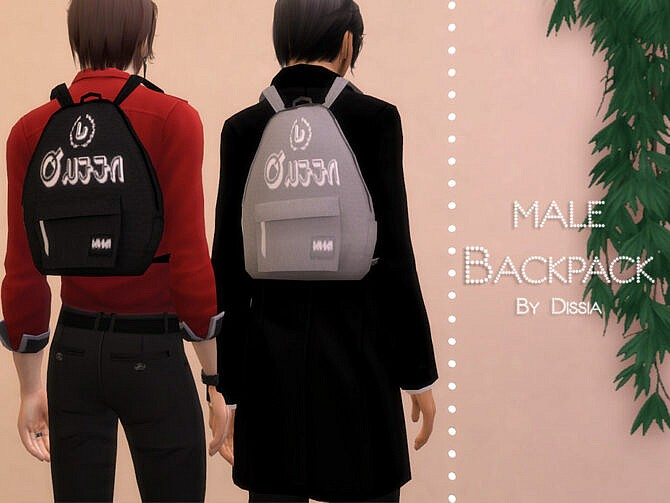 Sims 4 Backpack Male by Dissia at TSR
