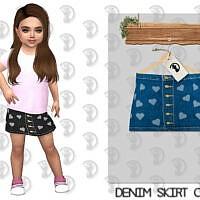 Denim Skirt C348 By Turksimmer