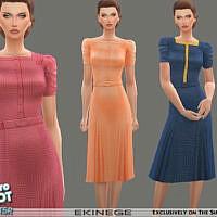 Retro Tea Dress By Ekinege