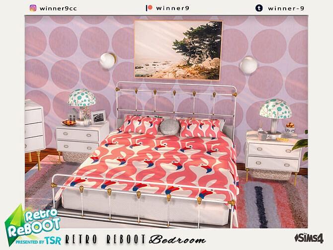 Sims 4 Elegant retro bedroom by Winner9 at TSR