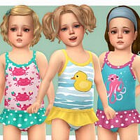 Toddler Swimsuit P14 By Lillka