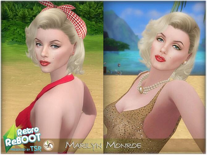 Sims 4 Marilyn Monroe by BAkalia at TSR