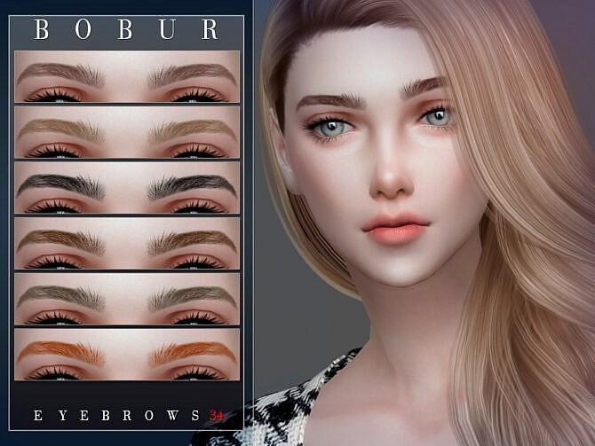 Sims 4 Eyebrows 34 by Bobur3 at TSR