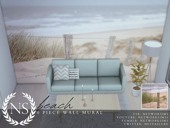 Beach Wall Mural By Networksims