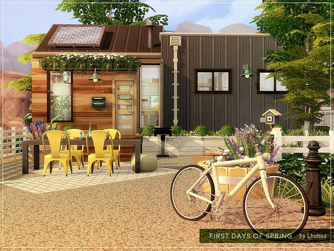 Sims 4 First Days of Spring House by Lhonna at TSR
