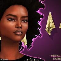 Retro Metal Mesh Earrings 70s By Feyona