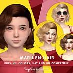 Retro Marilyn Hair (kids) By Sonyasimscc