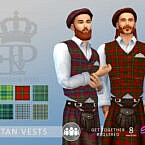 Edward & Piers Tartan Vest By Simmiev