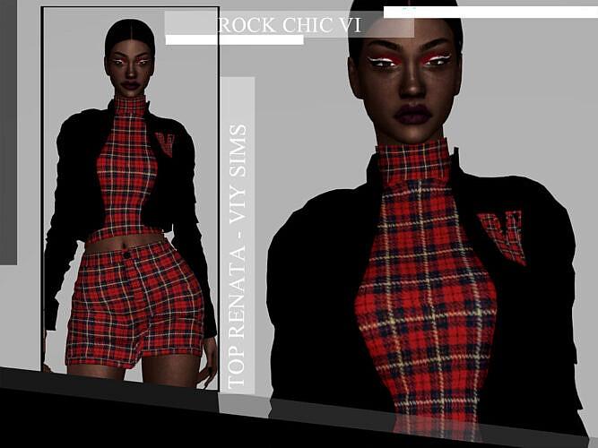Rock Chic Vi Top Renata By Viy Sims