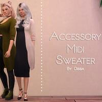 Accessory Midi Sweater By Dissia