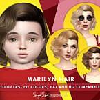 Retro Marilyn Hair (toddlers) By Sonyasimscc