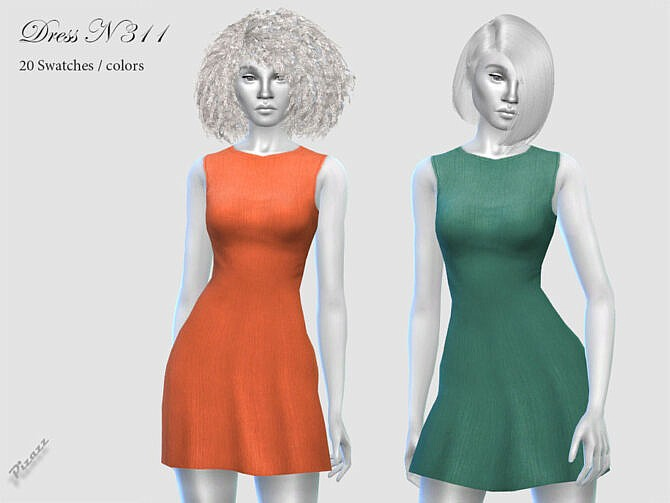 Sims 4 DRESS N 311 by pizazz at TSR