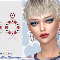Retro Daisy Fun Earrings By Feyona