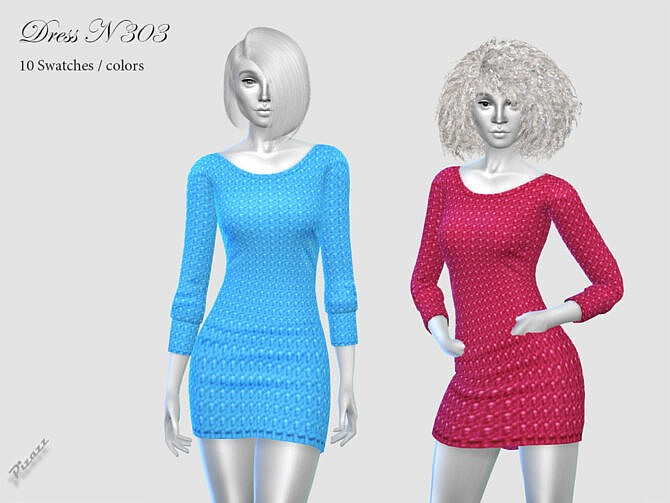 Sims 4 DRESS N 303 by pizazz at TSR