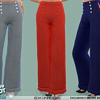 Retro Sailor Pants By Ekinege