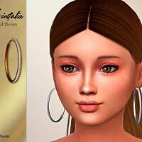 Cristalia Child Hoops Earrings By Suzue